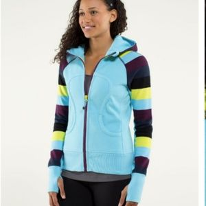 Lululemon scuba hoodie blue moon pow stripe jacket